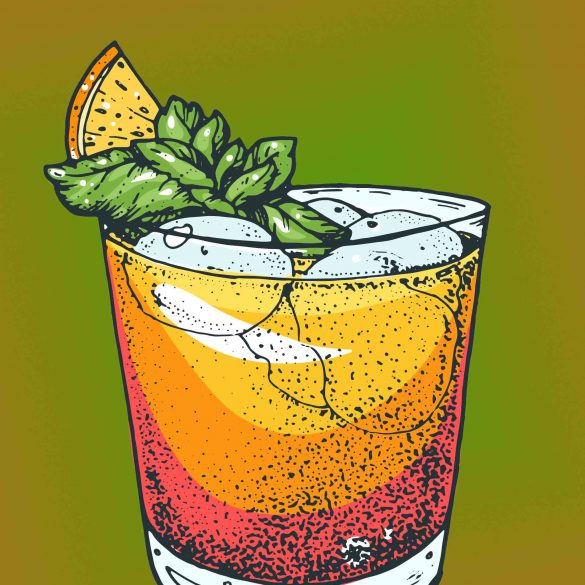 cocktail sketch-mai tai
